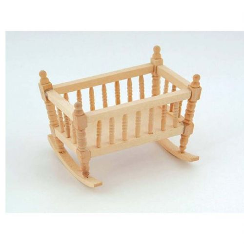 Barewood Dolls House Furniture Bare Essentials 1:12 BEF024 Crib Cradle